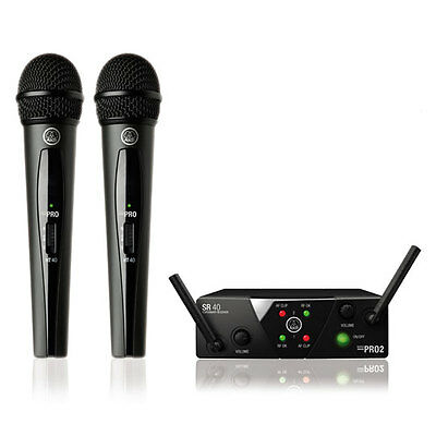 AKG WMS40 Mini Dual Vocal Wireless Microphone System - ISM 2 / 3  Frequencies
