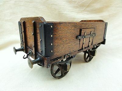 A Rare 19th Century Oak Shop Display Train Wagon