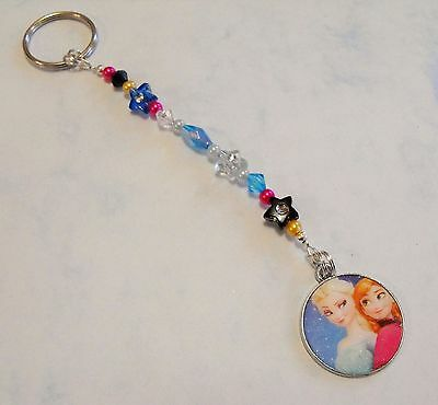 Girl's Personalised FROZEN bag charm/ keyring. Any NAME. Great gift. Elsa,Anna