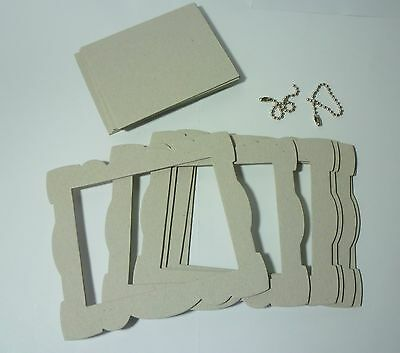 5 Chipboard Frames With 2 Chain Links