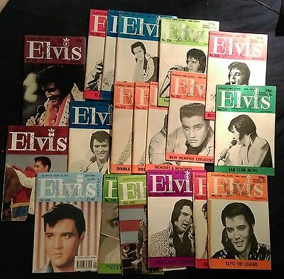 reduced ELVIS PRESLEY MAGAZINES19 original OFFICIAL UK FAN CLUB FROM '70,80,90s