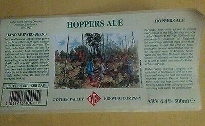 British beer label Hoppers Ale by Rother Valley Brewing Co