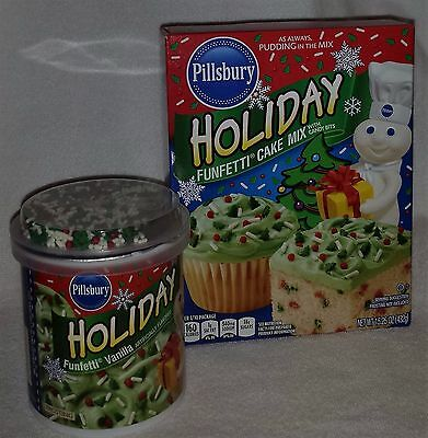 New Pillsbury Funfetti Candy Bits Cake Mix & Funfetti Frosting Best By 03-21-17