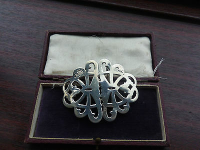 Fine antique late Victorian sterling silver nurses buckle 1899-0