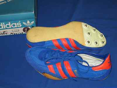 Adidas vintage MEXICO Running Sprint Spikes  West Germany 70`s 80`s uk  8  NEU