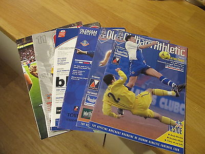 SIX GREAT Oldham Athletic Football Club Programmes Home & Away 2000 to 2015