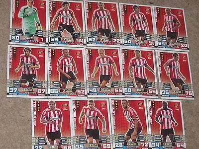 MATCH ATTAX 14/15 football trading cards, 14 x base card starter set Sunderland
