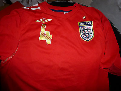 England Away Shirt 2006 Red Gerrard 4 Large