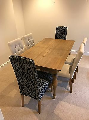 Next Dining Table And Chairs Oak