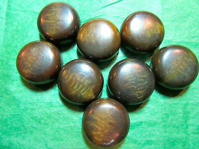 """8 - 7/8"""" CHUNKY GREEN TONES VEGETABLE IVORY? SHANK BUTTONS - VINTAGE Lot#M362"""