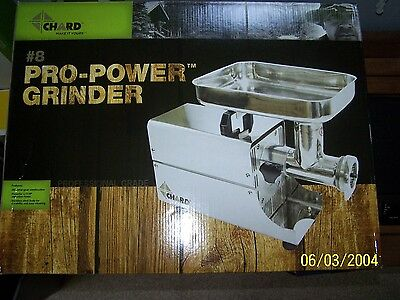 Chard #8 Pro-Power Meat Grinder, Stainless Steel