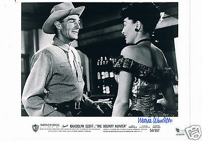 Marie Windsor  American actress Bounty Hunter  Hand Signed Lobby Card 10 x 8