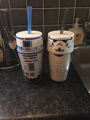 r2d2 And Storm Trooper Drinking Cups