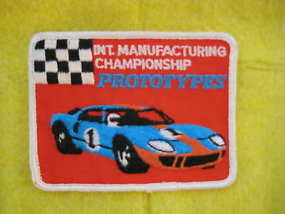 """Vintage Ford GT 40 Prototypes Championship Racing  Patch  4 1/8  """" X  3 1/8 """""""