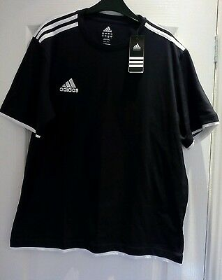 Adidas Tee Shirt, Black/white Size 44/46 New With Tags