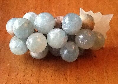 Vintage Small Bunch Of Marble / Onyx Grapes
