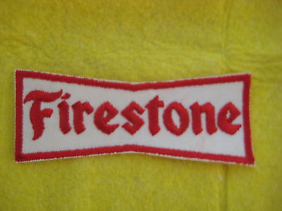 """Vintage Firestone Tires  Racing Division Patch  4 3/8  """" X  1 3/4 """""""