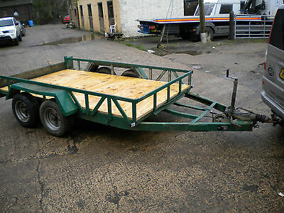 Indespension 'wide body' 10' x 6' twin axle plant trailer £700+VAT