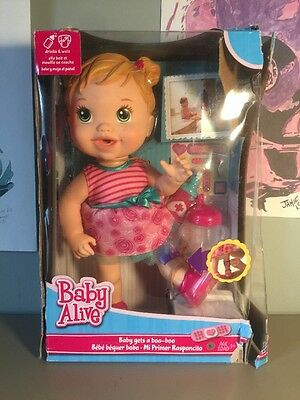 Baby Alive Baby Gets A Boo-boo New In Damaged Box Hasbro