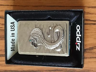Zippo Lighters Green Eyed Cobra New With Box