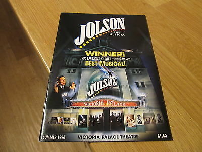 GREAT (Al) Jolson The Musical 1996 Victoria Palace Theatre London Programme