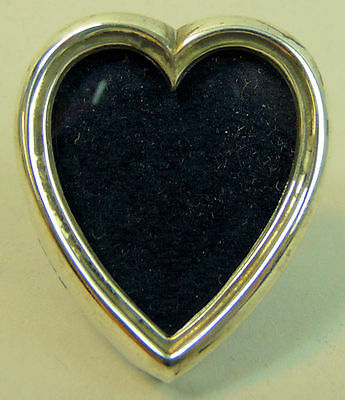 A Fine Victorian Silver Heart Form Photo Frame, London 1898