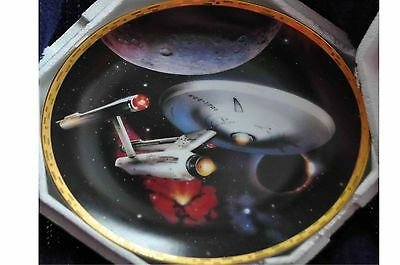 "Star Trek USS Enterprise NCC-1701~""The Voyagers"" 1993 Hamilton Collectors Plate"