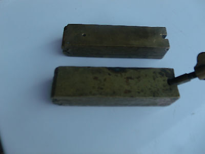 "Rare Civil War Era Doctor's 5"" Brass Double Suppository Mold - Exc Condition!"