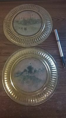 Two Vintage 8 Inch Metal Flue Covers