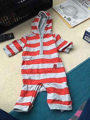 Baby Boy Onesie With Hood 0-3 Months From Tesco