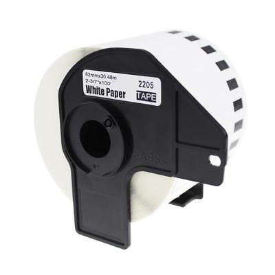 Compatible for Brother Continuous Length White Paper Tape DK-2205 DK-22205 1Roll