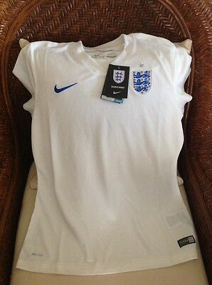 Nike England Soccer/futbol Home Jersey White New With Tags Size M Women
