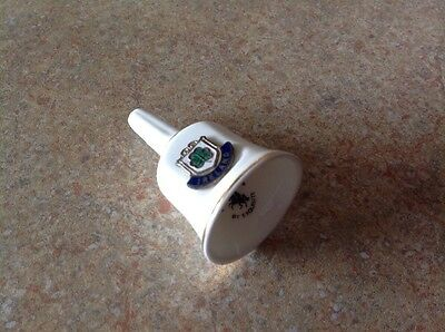 """VINTAGE SMALL IRISH  BONE CHINA BELL by """" EXQUISITE"""""""