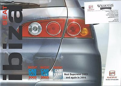 Seat Ibiza UK Market Brochure 2005 includes S Reference SX Sport 1.9 FR Cupra