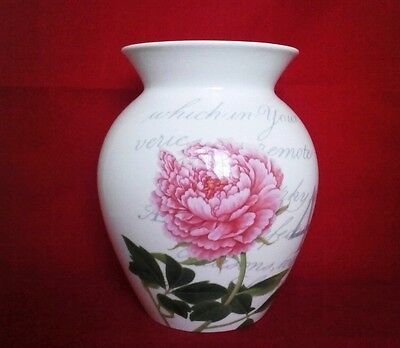 New Boxed Royal Worcester Royal Horticultural Society Flower Journal Tulip Vase