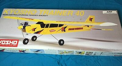 vintage kyosho trainer 40 radio controlled aircraft new old stock 2000 boxed