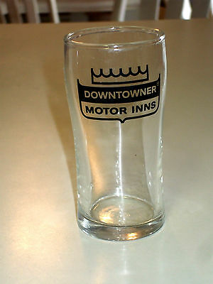 Downtowner Motor Inns Small Clear  Water / Juice Glass - Vintage Libbey  #fr449