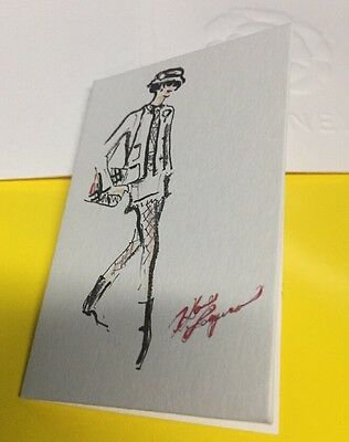 Chanel lagerfeld  Sketch card 2016 Collectable