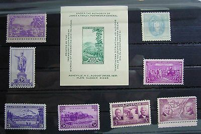 Collection of Unmounted Mint stamps from USA circa 1937