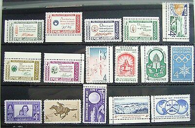 Collection of Unmounted Mint stamps from USA circa 1960 - ID2