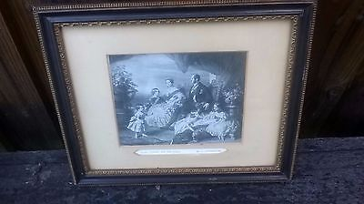 queen victoria and her family antique picture