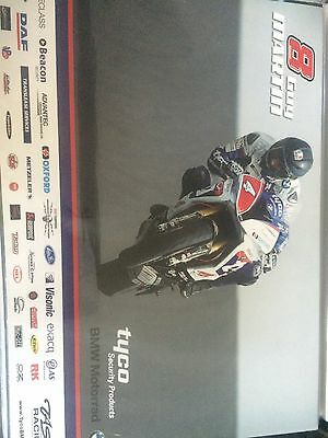 Guy Martin Tyco Bmw Isle Of Man Tt Poster A3