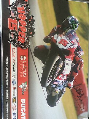 John Hopkins Hopper Motogp Hand Signed Poster Ducati British Superbikes
