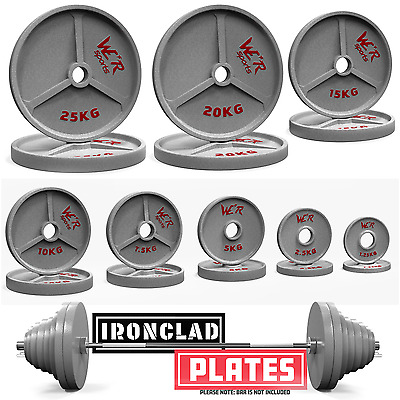 We R Sports Olympic Weight Plates Grey Hammertone Weight Disc Plate Fitness Gym