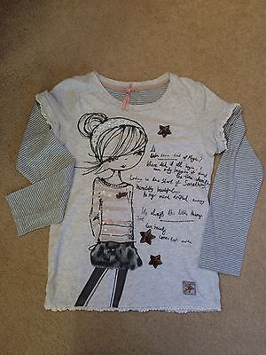 Girls Age 9 From Next Long Sleeve T-Shirt Top