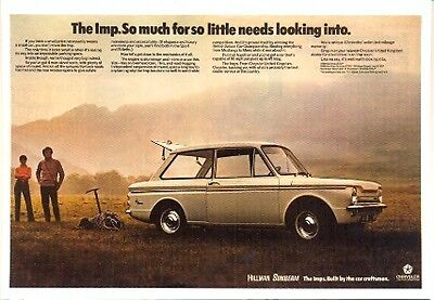Hillman Imp by Chrysler - Modern postcard by Vintage Ad Gallery