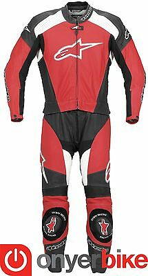 Alpinestars TZ-1 Two 2 Piece Motorcycle Motorbike Race Leather Suit Red SALE