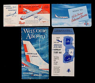 Vintage 1961 American Airlines Astrojet Booklet
