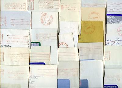 Australia Paid in Red Postmarks. Mostly 1960's, Handstamps, Machine. 24 Items
