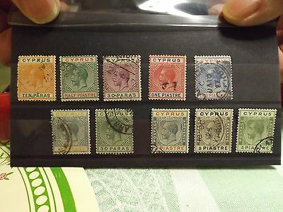 Selection of 22 stampsfrom Cyprus-George Vth-FU